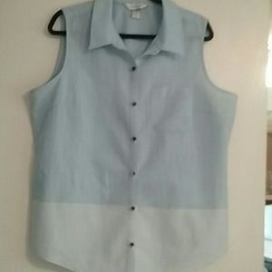 Sleeveless blouse new W/O tags